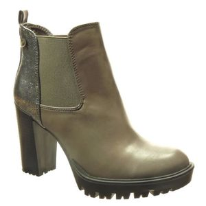 BOTTINE Angkorly -  Bottine chelsea boots femme brillant c
