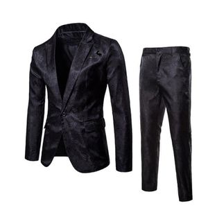 COSTUME - TAILLEUR (Veste+Pantalon)Costume Homme de Marque Luxe Veste