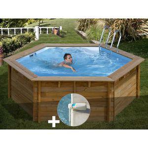 PISCINE Kit piscine bois Sunbay Vanille Premium Ø 4,12 x 1