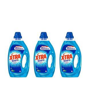 LESSIVE XTRA Total - Lessive Liquide - Lot de 3 x 1,25L -