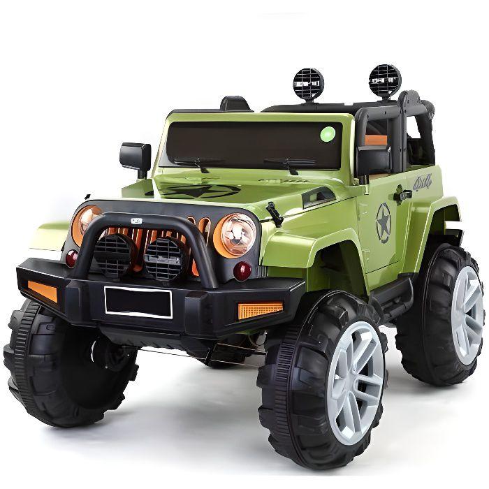 ATAA BIGFOOT 4X4 Vert - Voiture électrique pour enfant avec batterie 12v et télécommande
