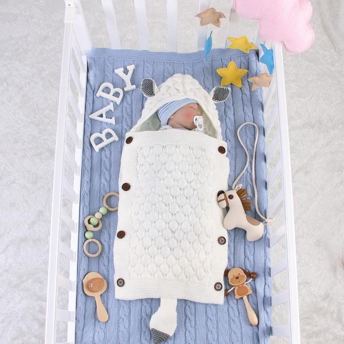 Soins bébéNouveau-né bébé bébé oreille de lapin tricoté couverture swaddle sommeil waddaddwrap CNJ90827173BG_YOU