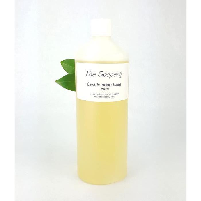 The Soapery Base de Savon liquide Castile, 1 litre Biologique, sans sulfates, SLS, SLES et sans paraben
