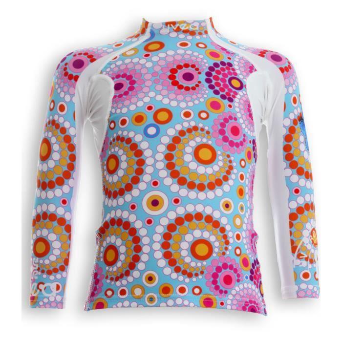 UVEA Teeshirt rashguard anti UV 80+ maillot manches longues INDIANA - Taille 2/4 ans - Couleur galet