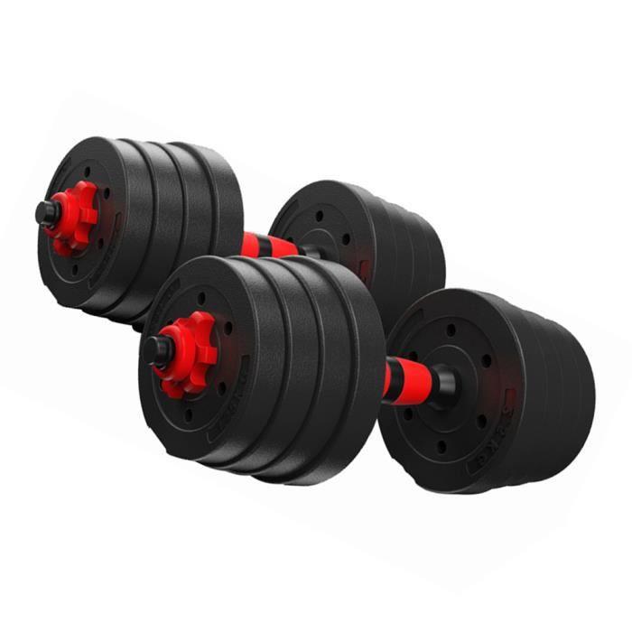 Haltères poids 20KG- Noir - musculation Réglable