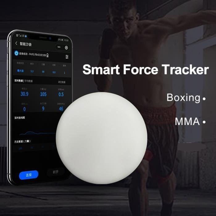 Sac de frappe,[Queling] smart force tracker sac de frappe compteur de puissance test de vitesse boxe coup de pied capteur