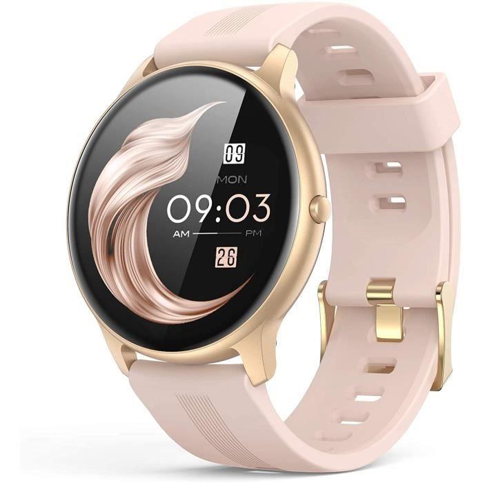 AGPTEK Montre Connect&eacutee Femme, Smartwatch Bluetooth 5.0 Tracker d'Activit&eacute avec Fr&eacutequence Cardiaque Podom&eg71