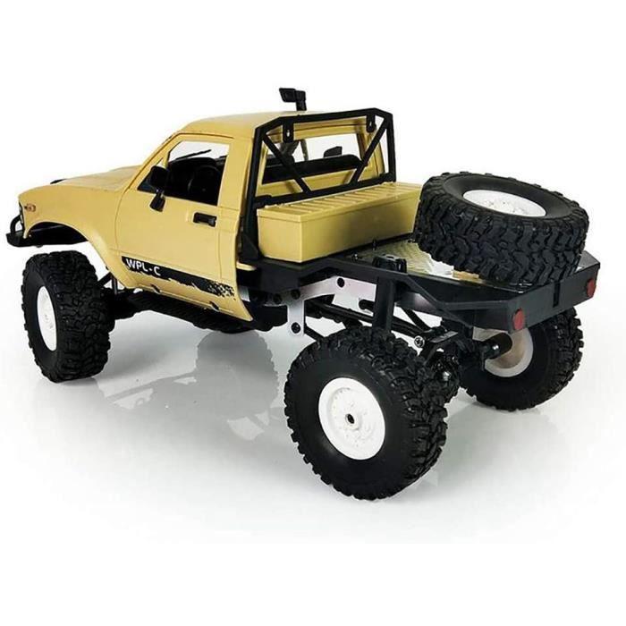 VEHICULE MINIATURE ASSEMBLE ENGIN TERRESTRE MINIATURE ASSEMBLE Anewu RC Jouet De Voiture, 1-16 WPL C14 2.4G 2CH 4WD Mini V&eac405