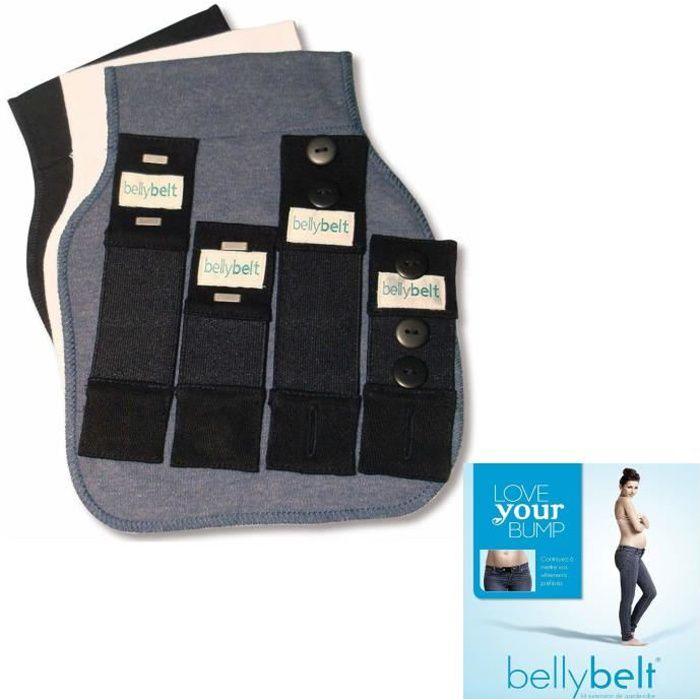 BELLY BELT Ceinture de grossesse - ajusteur élastique pour pantalon - Blanc, Noir, Denim