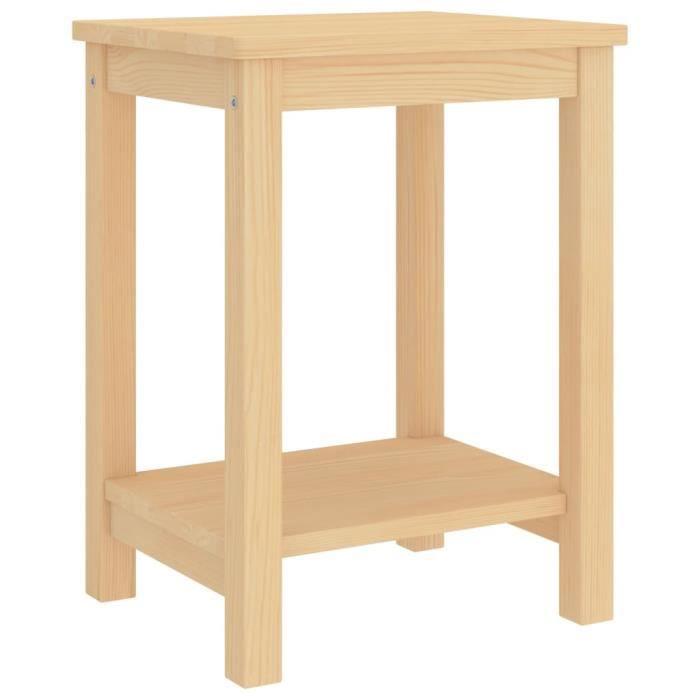 Table de chevet Bois clair 35x30x47 cm Bois de pin massif