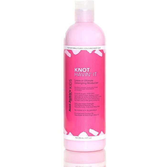 Soins des cheveux Aunt Jackie's Girls Knot Havin' it Leave-in Conditioner Hydratant Detangler 12 Oz 146275