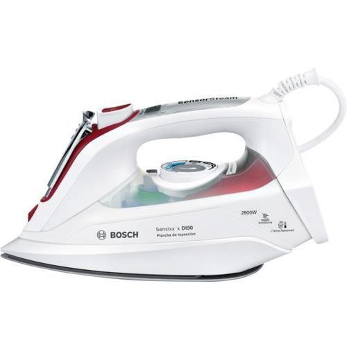 Bosch Sensixx'x Sensixx'x DI90, Fer à repasser à sec ou à vapeur, 2,5 m, 200 g-min, Blanc, Rose, Rouge, 55 g-min, 0,4 L