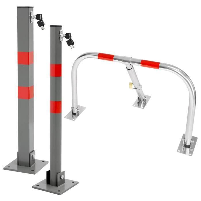 Barrères de parking poteau de stationnement borne verrouillable voiture + clés