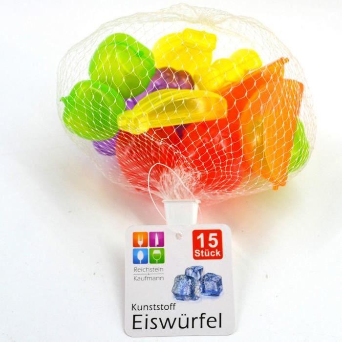 15 glaçon fruit en plastique