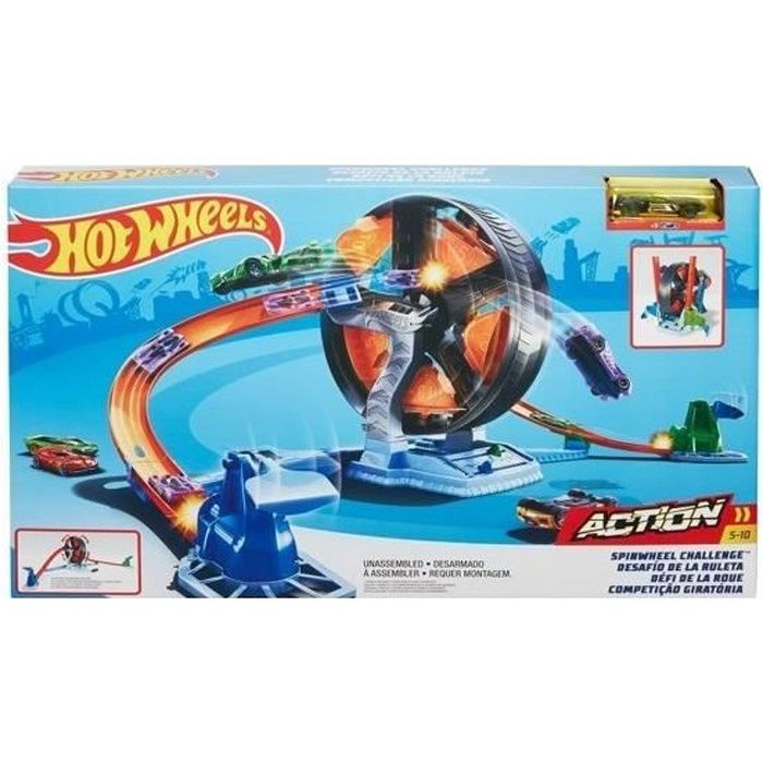 Hot Wheels jeu de piste Action Spinwheel Challenge