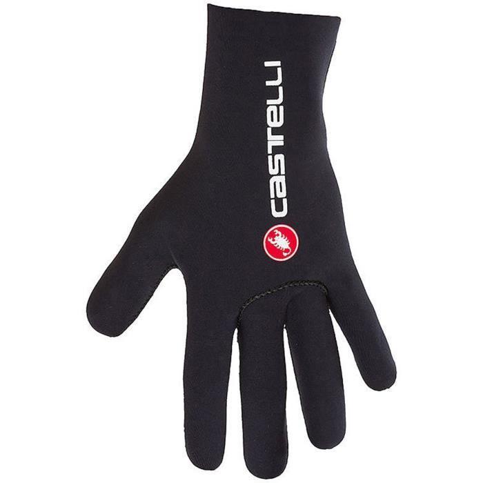 Gants de Cyclisme Castelli 2018 Diluvio C Noir