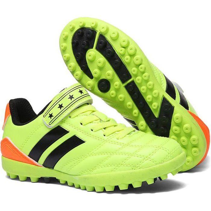Chaussures De Football Basses AG Pour Enfants Avec Velcros Chaussures De Sport Crampons Courtes Pour Garçons Filles Adolescents