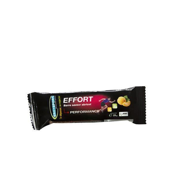 Barre de l effort d apport glucidique riche en énergie adapté pour un effort soutenu.