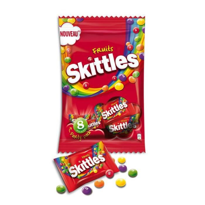 SKITTLES Bonbons tendres dragéifiés, goûts de fruits - 208 g