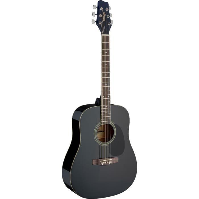 STAGG SA20D BLK Guitare Folk - Noir