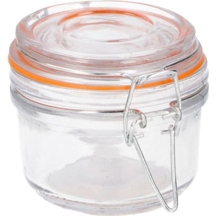 TOM bocal de stockage 125 ml verre 8,5 cm transparent