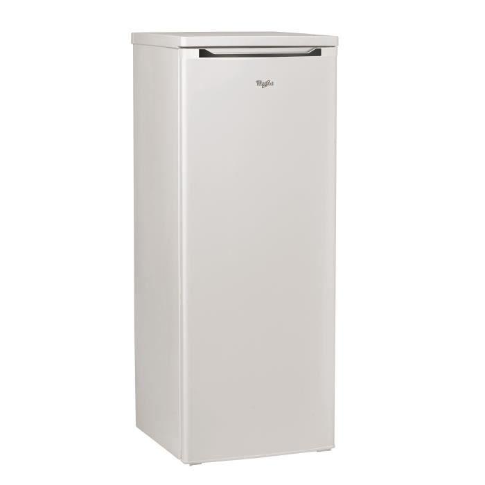 WHIRLPOOL WM1552A+W - Réfrigérateur congélateur haut - 223 L (208 L+15 L) - Froid brassé - A+ - L 55 x H 143 cm - Blanc