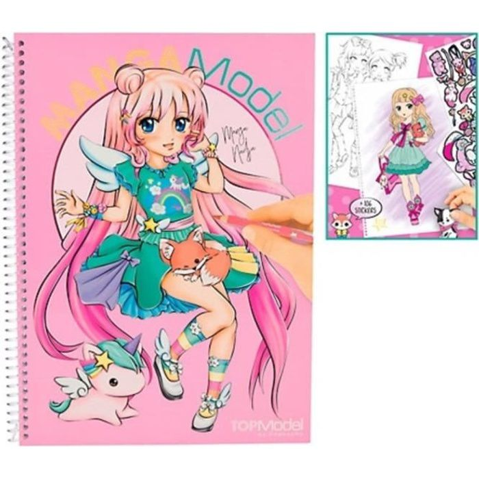 Album Coloriage Topmodel Mangamodel Achat Vente Livre De Coloriage Album Coloriage Topmodel Ma Cdiscount