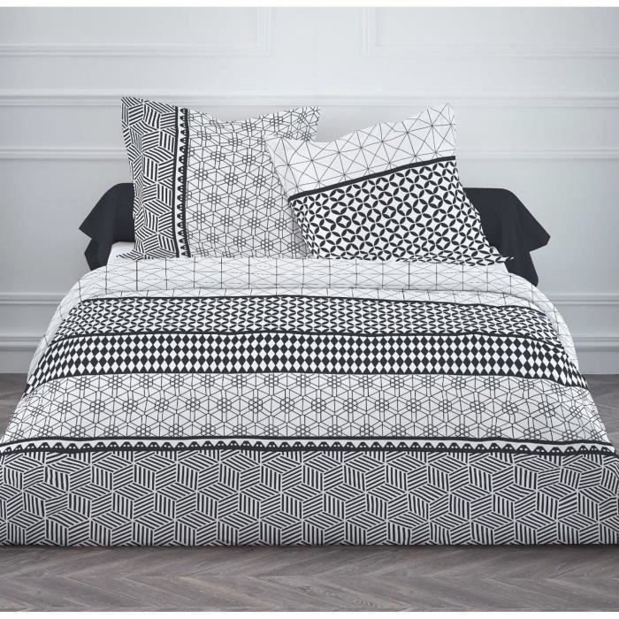 housse de couette motif geometrique achat vente housse. Black Bedroom Furniture Sets. Home Design Ideas