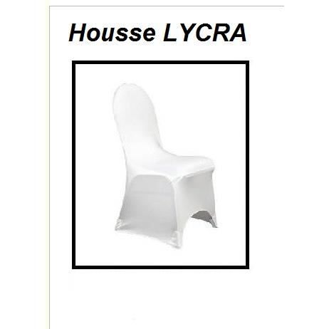 housse de chaise en lycra spandex blanche x1 achat vente housse de chaise cdiscount. Black Bedroom Furniture Sets. Home Design Ideas