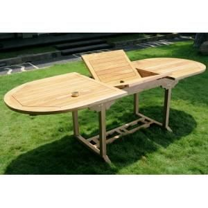 Table De Jardin En Teck Brut Table Rallonge Achat Vente Table De Jardin Table De Jardin