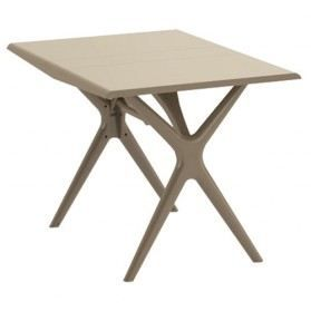 Table pliante sigma 115x75 cm taupe grosfillex achat for Equerre pliante pour table