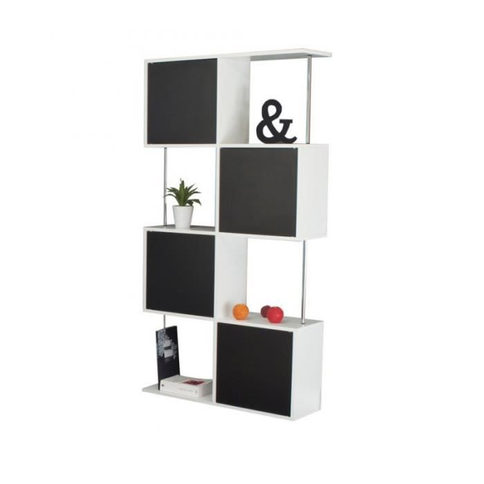 box tag re biblioth que semi ferm e blanc et p achat vente biblioth que box tag re. Black Bedroom Furniture Sets. Home Design Ideas