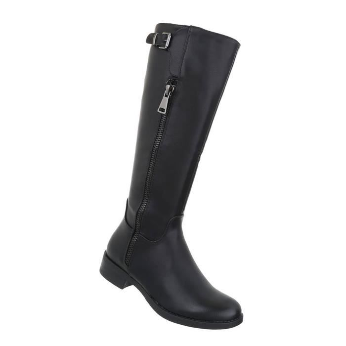 Chaussures femmes bottes Used optique noir 41 lxwiI6ud2