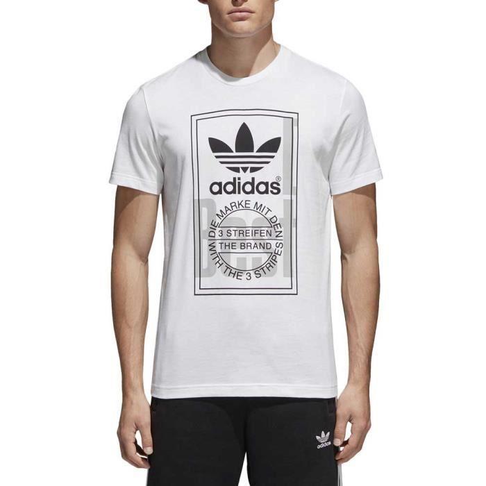 Vêtements homme T shirts Adidas Originals Tongue Label