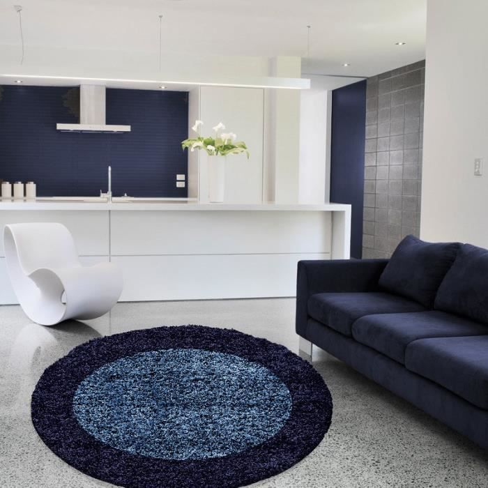 tapis shaggy bleu achat vente tapis shaggy bleu pas cher cdiscount. Black Bedroom Furniture Sets. Home Design Ideas