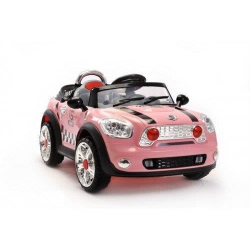 voiture lectrique mini cooper pour enfant rose achat. Black Bedroom Furniture Sets. Home Design Ideas