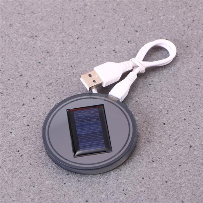 TAPIS 2 PCS USB énergie solaire Coupe Mat dessous de ver