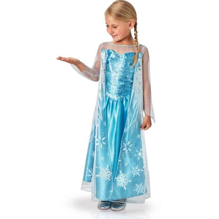 Disney Princesses Deguisement Elsa Reine Des Neiges Achat Vente Deguisement Panoplie Cdiscount