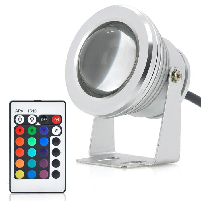 spot led 10w multicolore waterproof achat vente spot