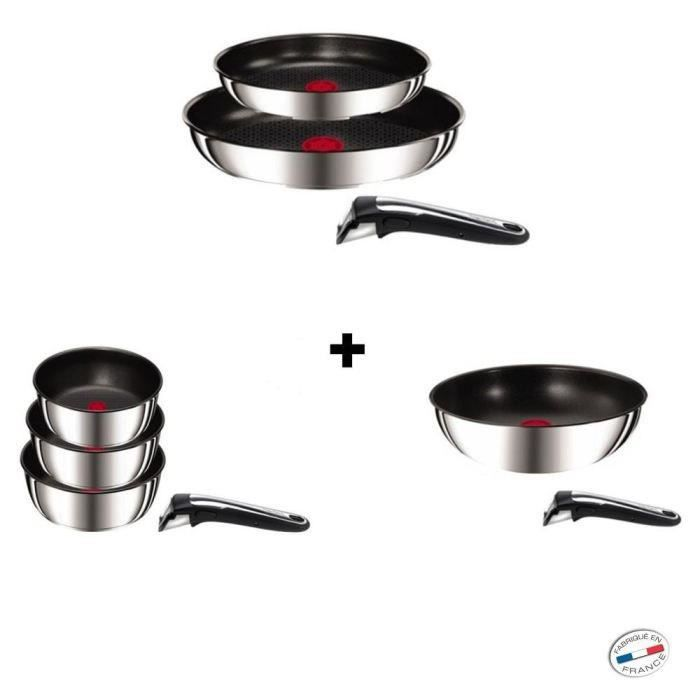 Tefal ingenio gourmet induction inox set 9 pi ces achat for Set cuisine inox