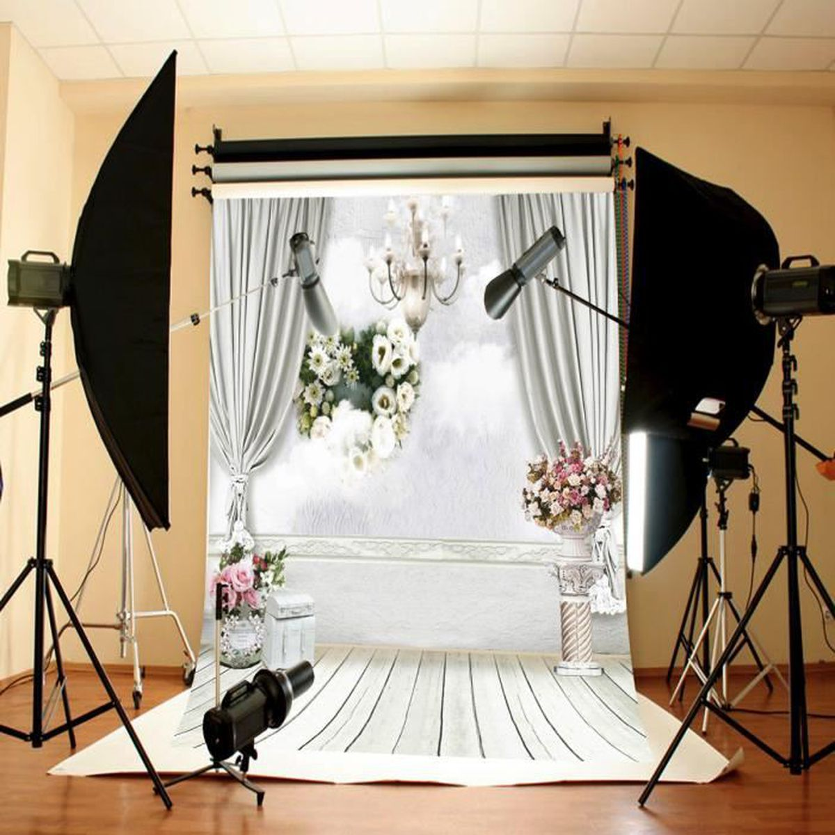 tempsa toile de fond backdrop tissu mariage fleurs photographie studio photo achat. Black Bedroom Furniture Sets. Home Design Ideas
