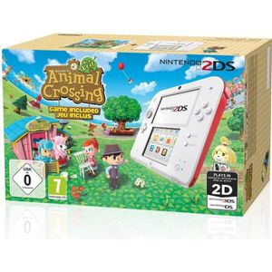 CONSOLE 2DS 2DS Rouge + Animal Crossing New Leaf