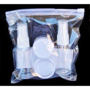 KIT DE CONFORT VOYAGE Pochette kit flacons spray et pots de creme nécess