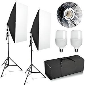 KIT STUDIO PHOTO Abeststudio 2x 25 W Kit d'éclairage pour éclairage
