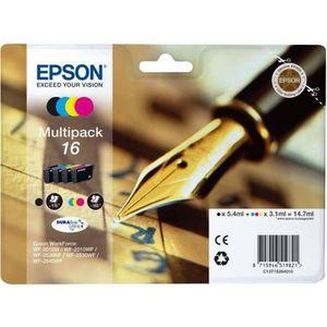 CARTOUCHE IMPRIMANTE EPSON Cartouche 16 Plume - Noir et tricolore - 14.