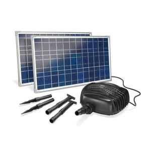 FONTAINE DE JARDIN Kit pompe solaire bassin, plan d eau, gros debi...