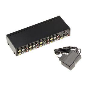 ENCEINTES ORDINATEUR Splitter AUDIO Stereo + VIDEO Composite - 8 Ports