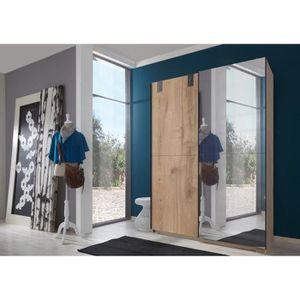 ARMOIRE DE CHAMBRE Armoire a portes coulissantes avec miroir en Imita