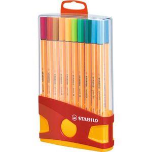 Stylo - Parure STABILO Color Parade - Etui distributeur de 20 Sty