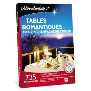 COFFRET GASTROMONIE Wonderbox - Coffret cadeau romantique - Tables rom